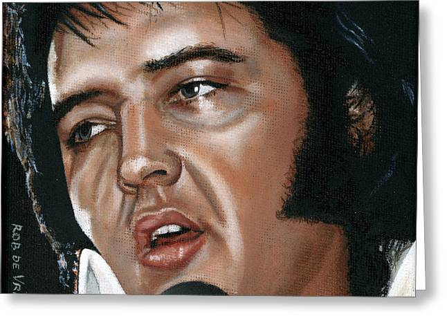 Elvis 24 1975 Greeting Card by Rob De Vries