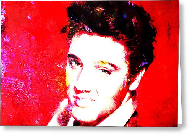 Gi Paintings Greeting Cards - Elvis 2c Greeting Card by Brian Reaves