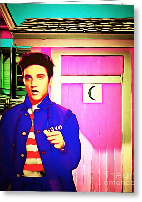 Elvis Has Left The House 20151225 Greeting Card by Wingsdomain Art and Photography