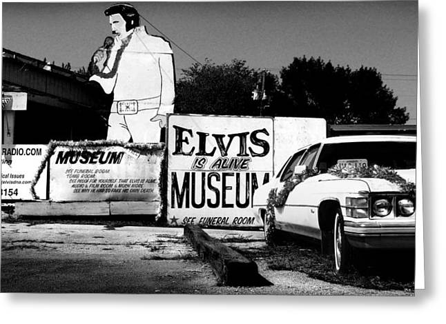 Tourist Trap Greeting Cards - Elvis is Alive Museum Greeting Card by Todd Fox