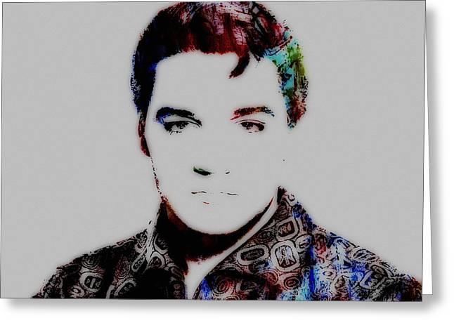 Gi Paintings Greeting Cards - Elvis Presley 03c Greeting Card by Brian Reaves