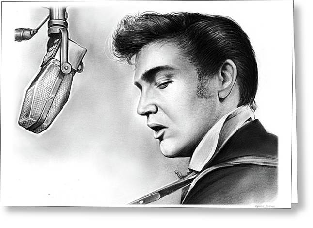Elvis Presley Greeting Card by Greg Joens
