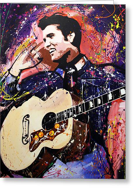 Elvis Icon Greeting Cards - Elvis Presley Greeting Card by Richard Day