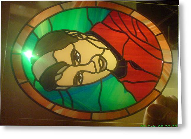 Rock N Roll Glass Greeting Cards - Elvis Presley Greeting Card by Robin Jeffcoate