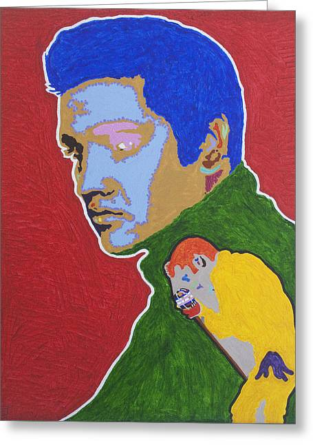 Live Art Greeting Cards - Elvis Presley Greeting Card by Stormm Bradshaw