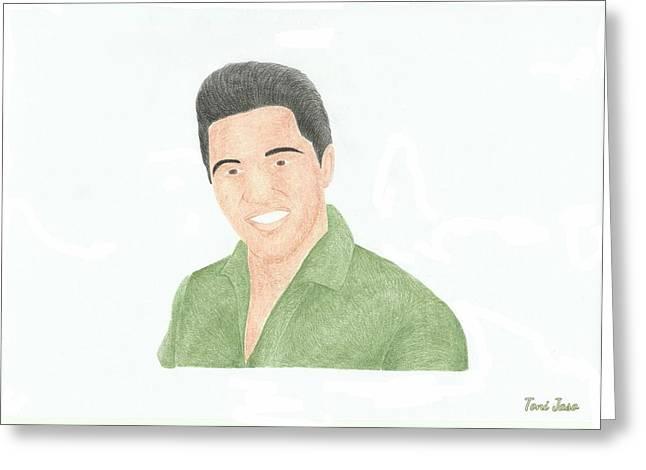 Elvis Presley Greeting Card by Toni Jaso