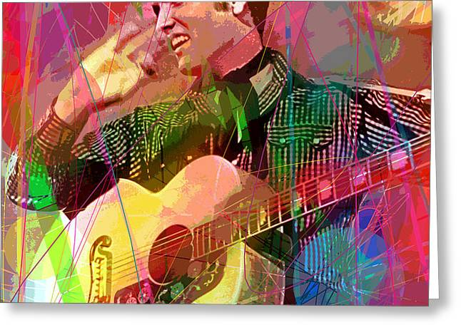Elvis Rockabilly  Greeting Card by David Lloyd Glover