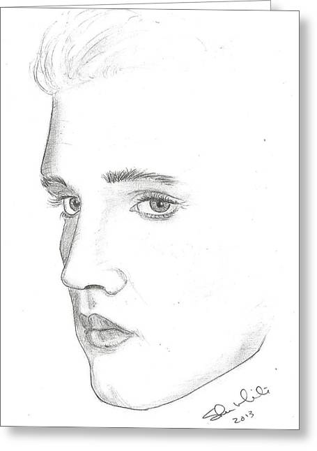 Recently Sold -  - Steven White Greeting Cards - Elvis Greeting Card by Steven White