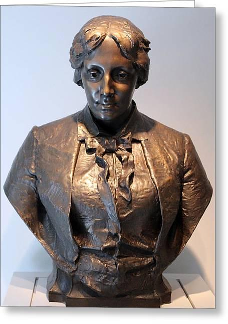Louisa May Alcott Photographs Greeting Cards - Elwells Louisa May Alcott Greeting Card by Cora Wandel