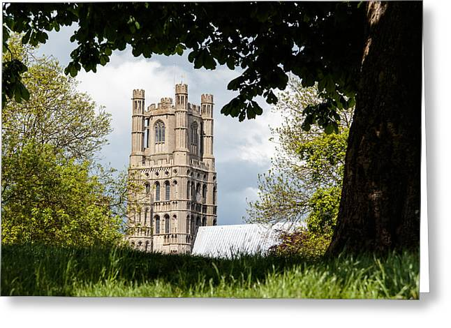 Wooden Ship Greeting Cards - Ely cathedral Greeting Card by Katey jane Andrews
