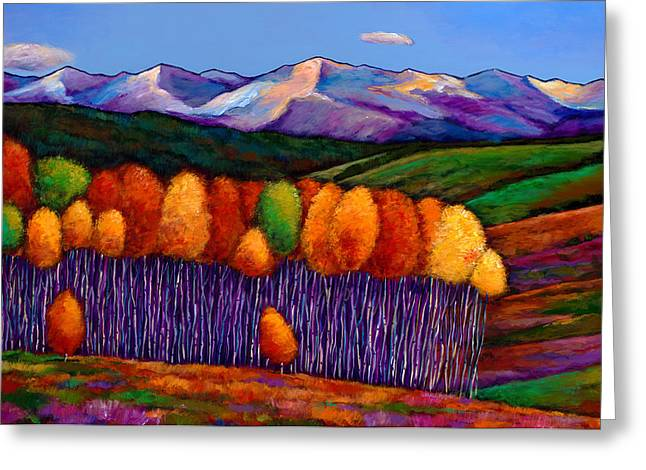 Bright Paintings Greeting Cards - Elysian Greeting Card by Johnathan Harris