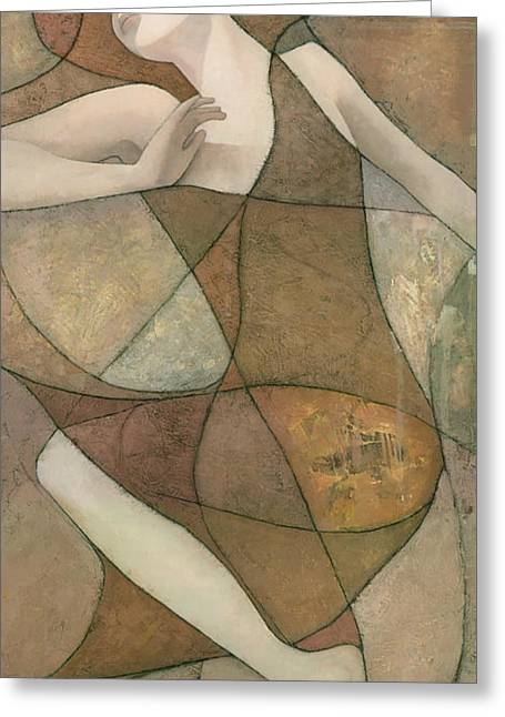 Female Mixed Media Greeting Cards - Elysium Greeting Card by Steve Mitchell