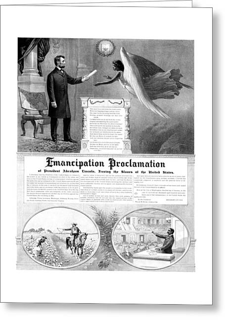African-americans Greeting Cards - Emancipation Proclamation Greeting Card by War Is Hell Store