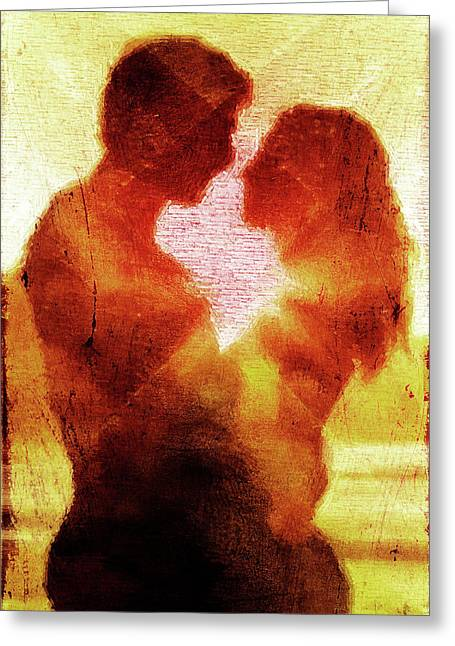 Couple Embracing Greeting Cards - Embrace Greeting Card by Andrea Barbieri
