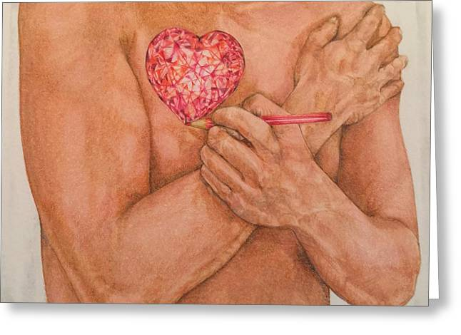 Embrace Love Drawing Greeting Card by Kent Chua