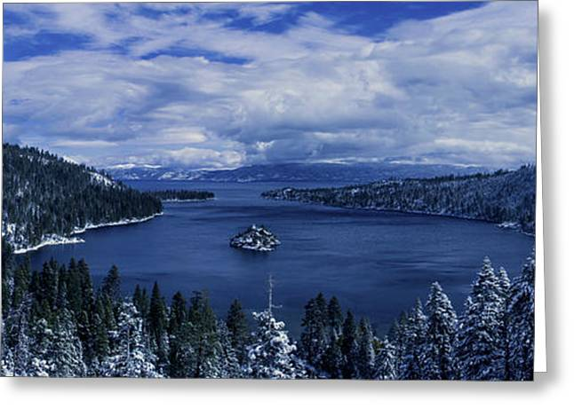 Brad Scott Greeting Cards - Emerald Bay First Snow Greeting Card by Brad Scott