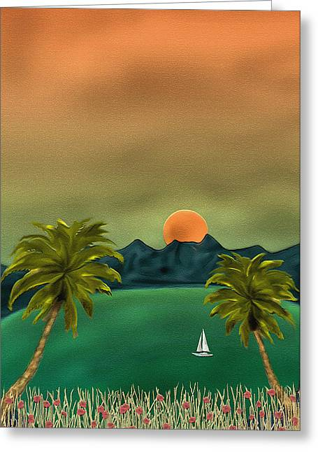 Sailboat Art Greeting Cards - Emerald Bay Greeting Card by Gordon Beck