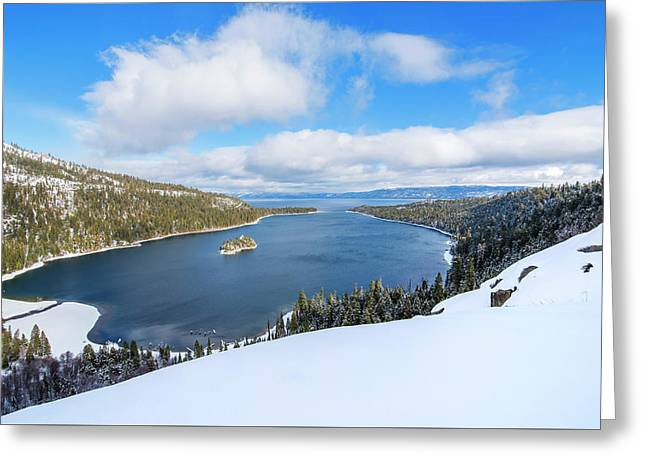 Emerald Bay Slopes Greeting Card by Brad Scott