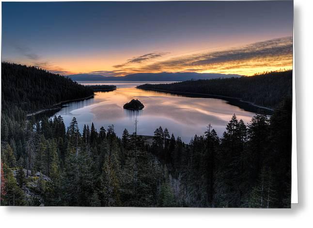 Mark Whitt Photography Greeting Cards - Emerald Bay Sunrise Greeting Card by Mark Whitt