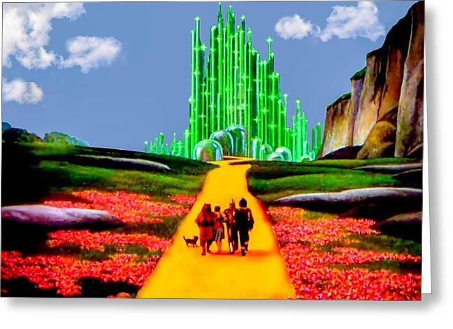 Movie Greeting Cards - Emerald City Greeting Card by Tom Zukauskas