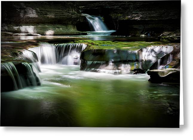 Buttermilk Falls Greeting Cards - Emerald Cove Greeting Card by Katherine Hawkins