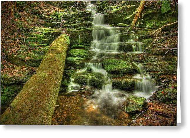 Beautiful Creek Photographs Greeting Cards - Emerald Dreams Greeting Card by Evelina Kremsdorf