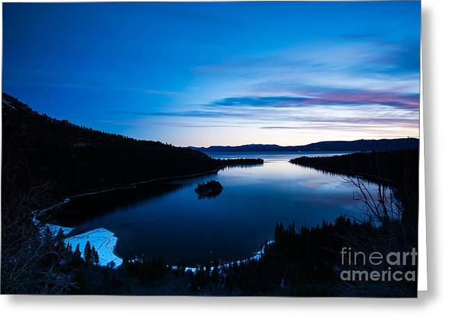 Scenic Greeting Cards - Emerald Glow Greeting Card by Jon Olmstead
