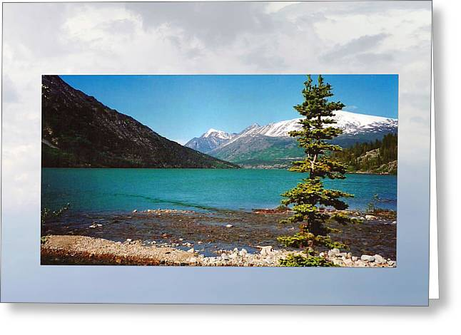 Klondike Gold Rush Greeting Cards - Emerald Lake Chilkoot Trail Alaska Greeting Card by Tina M Wenger
