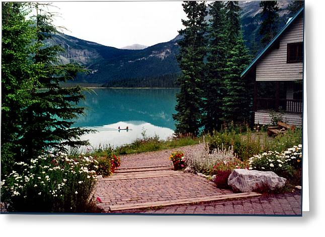 Canoe Photographs Greeting Cards - Emerald Lake Greeting Card by Martin Massari