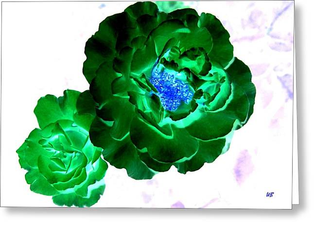 Rose Photos Greeting Cards - Emerald Rose Greeting Card by Will Borden
