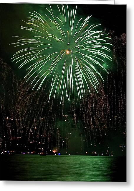 4th July Photographs Greeting Cards - Emerald Sky Greeting Card by David Patterson