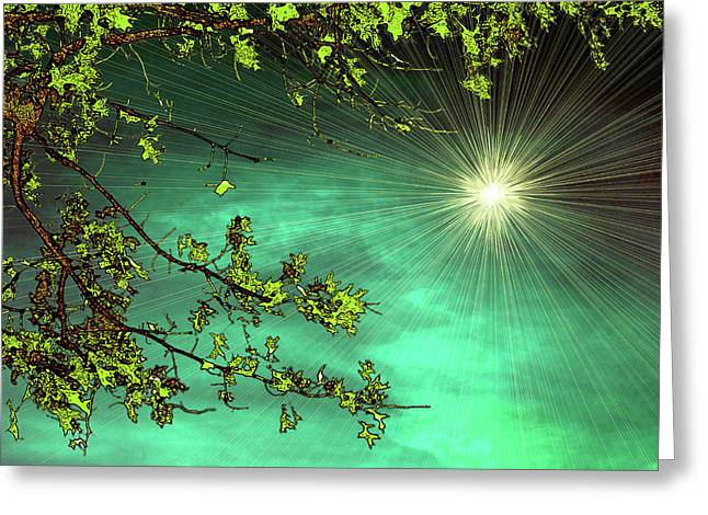 Emerald Sky Greeting Card by Tom York Images