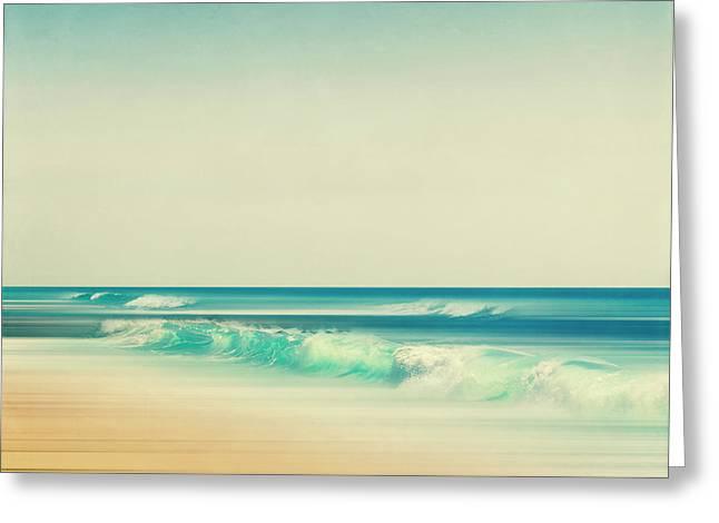 Dirk Wuestenhagen Greeting Cards - Emerald Surf Greeting Card by Dirk Wuestenhagen