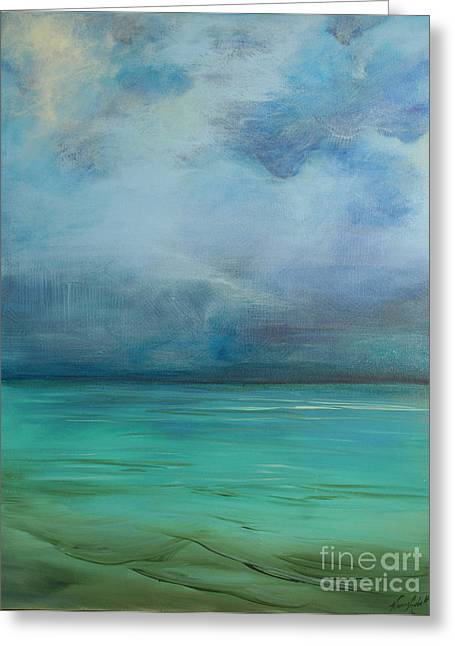 Emerald Waters Greeting Card by Michele Hollister - for Nancy Asbell