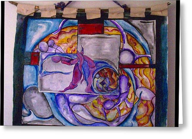 People Tapestries - Textiles Greeting Cards - Emergence Greeting Card by Carol Rashawnna Williams