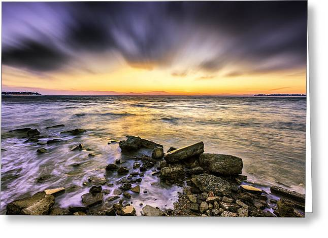 San Francisco Bay Greeting Cards - Emeryville Bay Sunset Greeting Card by PhotoWorks By Don Hoekwater