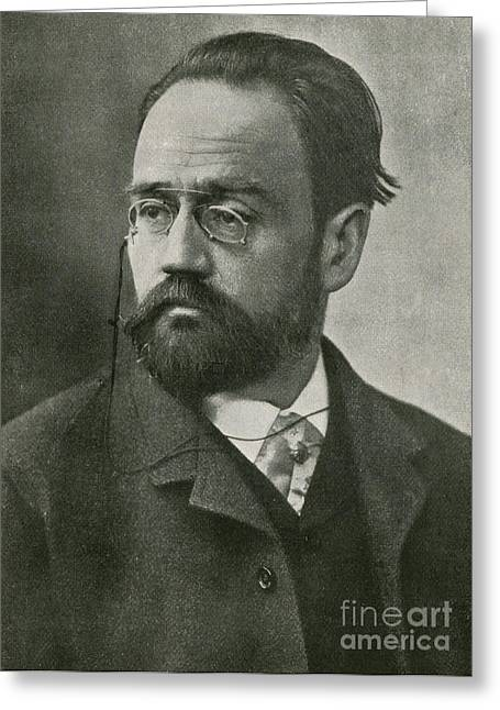 Famous Person Greeting Cards - Emile Zola, French Author Greeting Card by Photo Researchers