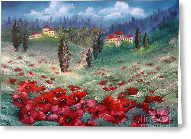 Mediterranian Greeting Cards - Emilia Romagna Greeting Card by Barbara Teller