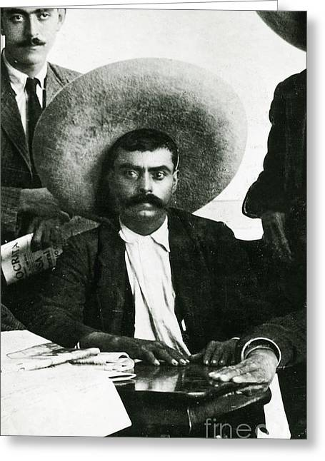 Emiliano Greeting Cards - Emiliano Zapata Greeting Card by Science Source
