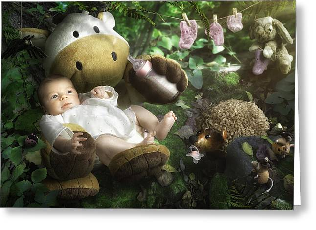 Newborns Greeting Cards - Emilies World Greeting Card by Christophe Kiciak