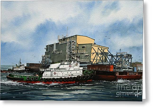 Barges Greeting Cards Greeting Cards - EMMA FOSS Barge Assist Greeting Card by James Williamson