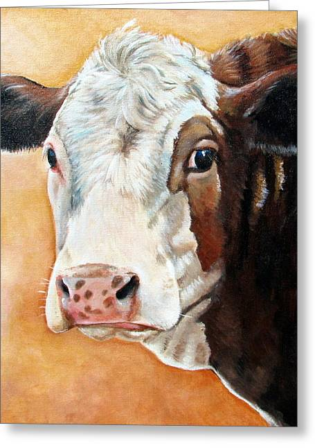Hereford Greeting Cards - Emma Greeting Card by Laura Carey