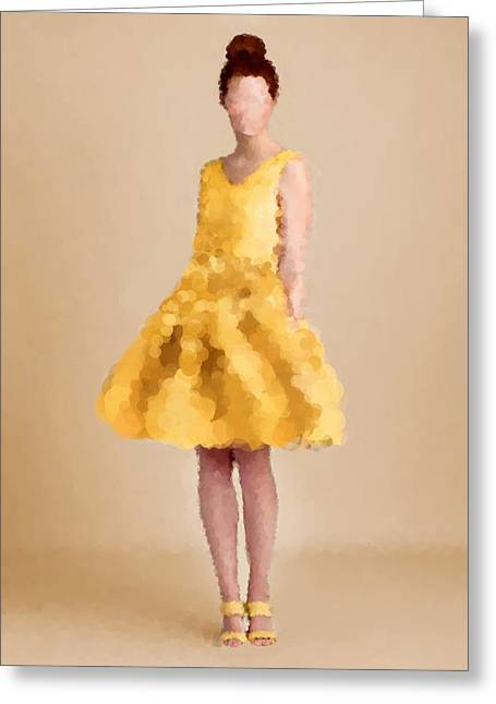 Fashion Art For Print Greeting Cards - Emma Greeting Card by Nancy Levan