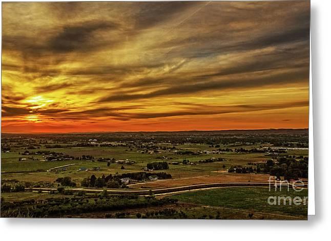 Emmett Valley Sunset Greeting Card by Robert Bales