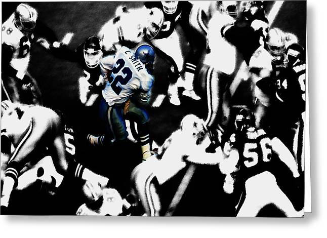 Emmitt Smith 3a Greeting Card by Brian Reaves