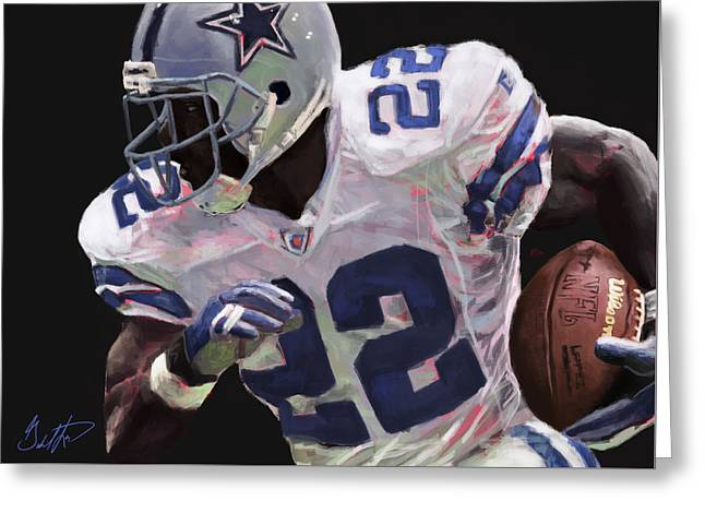 Espn Digital Greeting Cards - Emmitt Smith  Greeting Card by Gabriel Lopez