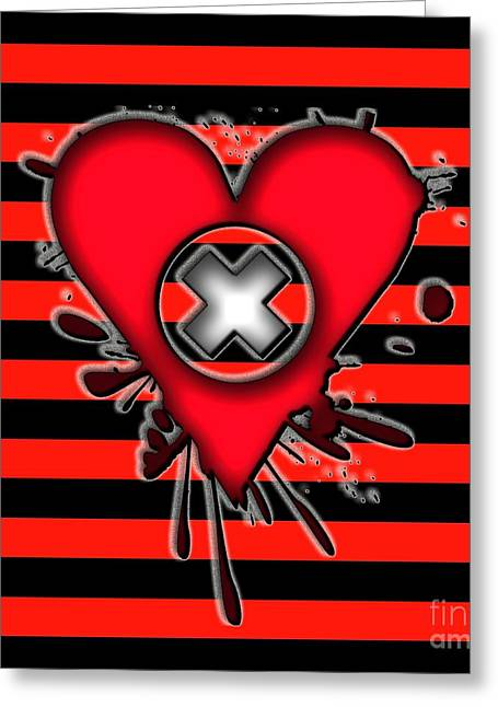 Emo Greeting Cards - Emo Love Greeting Card by Roseanne Jones