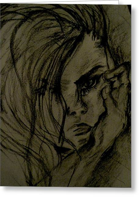 Anger Drawings Greeting Cards - Emotion Greeting Card by Ani Koch