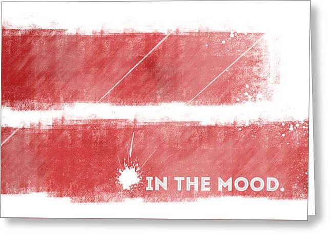 Emotional Art In The Mood Greeting Card by Melanie Viola