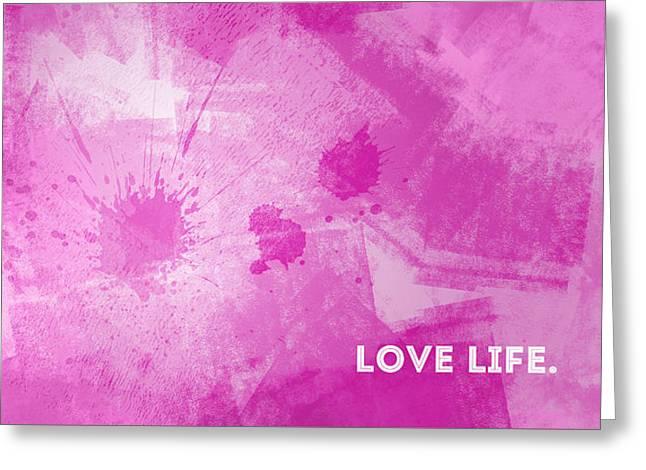 Life Line Digital Art Greeting Cards - EMOTIONAL ART Love Life Greeting Card by Melanie Viola